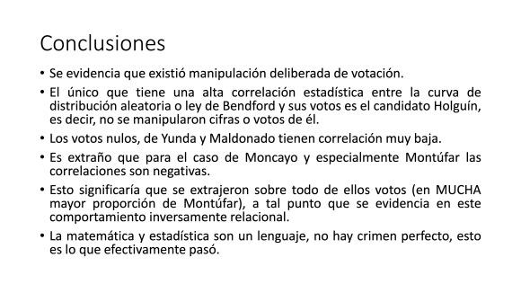 Análisis AMPLIADO probabilidad FRAUDE electoral – Elecciones Alcalde UIO 2019 35