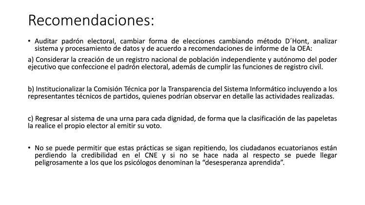 Análisis AMPLIADO probabilidad FRAUDE electoral – Elecciones Alcalde UIO 2019 36